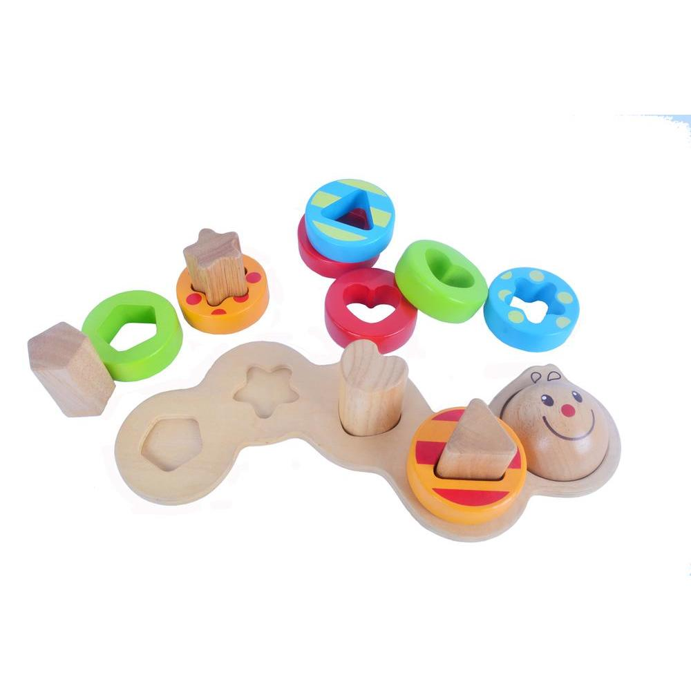 Eduk8 EDWW/1 Wooden Wiggly Worm Toy, Homeware4u.com