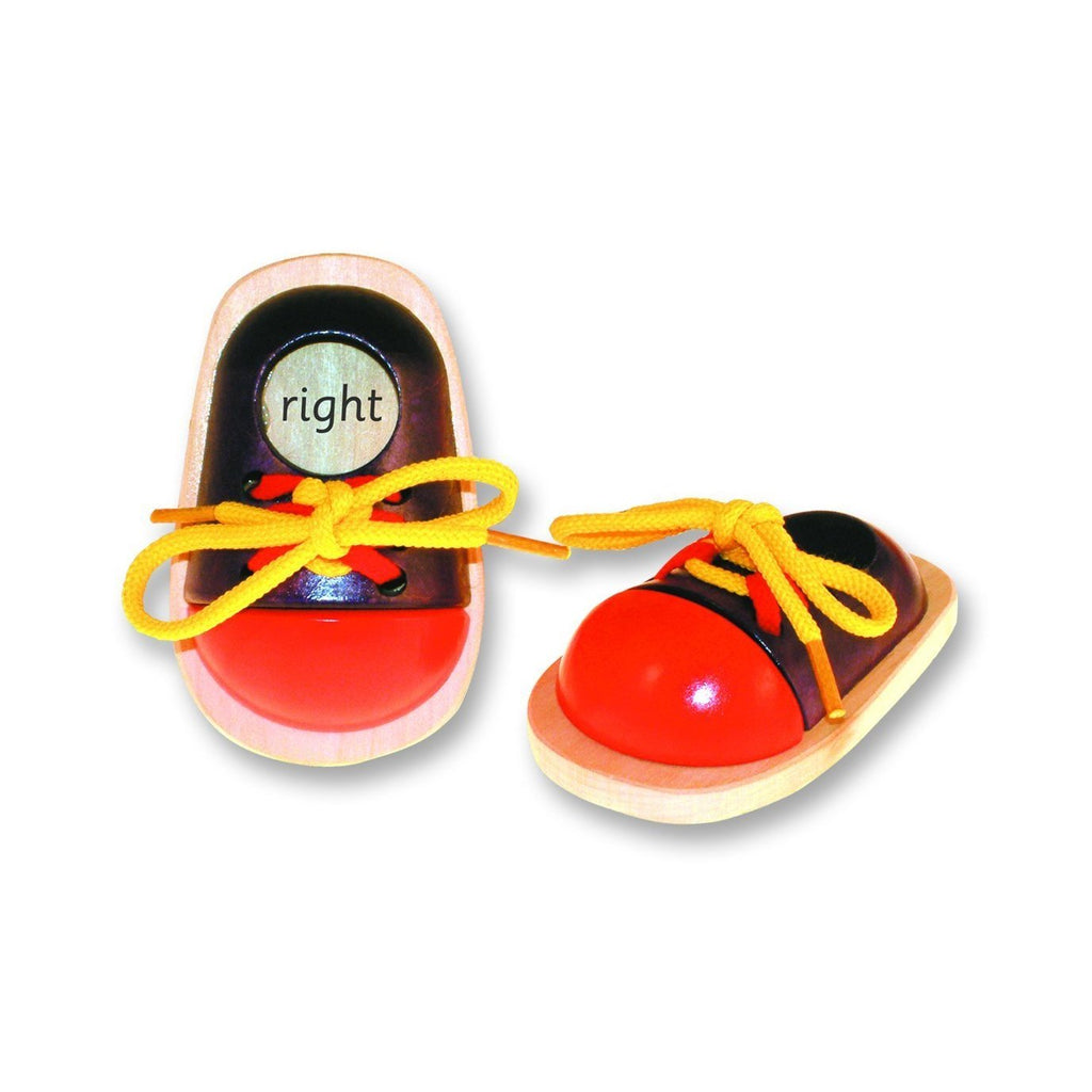 Eduk8 Worldwide EDLS/1 Wooden Lacing Shoe Pair, Homeware4u.com