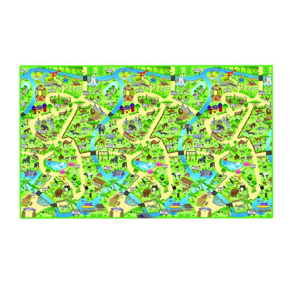 Eduk8 Worldwide PMZOO/1 New Zoo Play Mat, 200 x 120 cm, Homeware4u.com