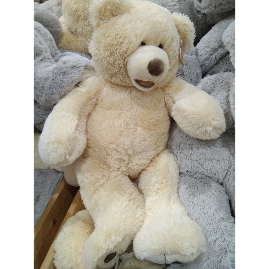Hugfun plush bear 63.5 cm (25 inch) in cream, Homeware4u.com