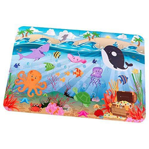 Kidkraft Kids Wooden Floor Puzzle - Underwater Friends, Homeware4u.com