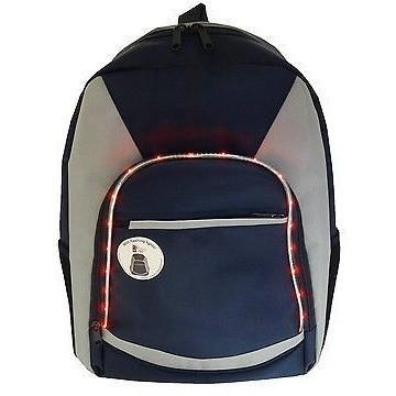 Kids LED Light Up Backpack Rucksack School Bag Navy Blue, Homeware4u.com