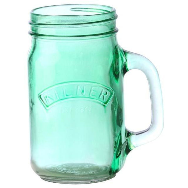 Kilner Glass Jar with Handle 0.4 Litre Green, Homeware4u.com