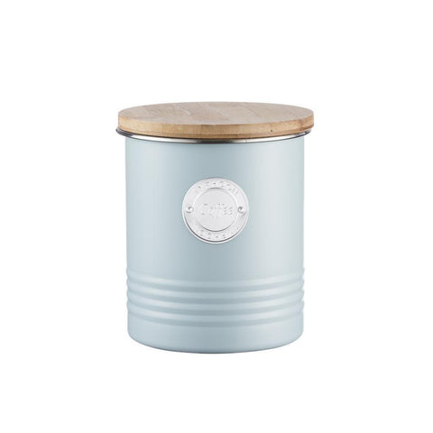 Typhoon Living Coffee Canister Blue 1 Litre, Homeware4u.com