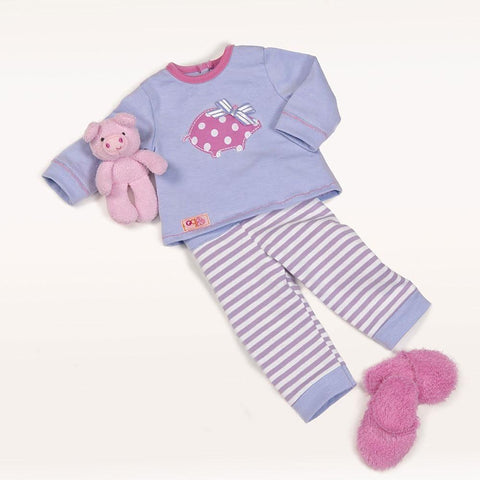Our Generation Morning Noon and Nighty Pajamas Regular Doll Outfit, Homeware4u.com