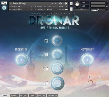 Gothic Instruments - DRONAR Live Strings Module - Sound On Sound