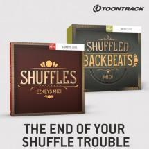 Toontrack release drum and EZKeys Shuffle MIDI