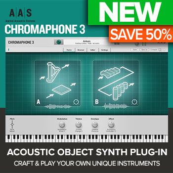 ENDS 20TH NOV - Up to 50% off AAS new Chromaphone 3 synth plugin!