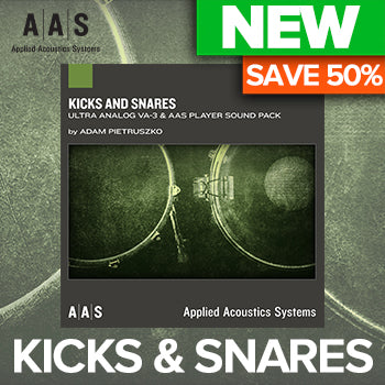 NEW RELEASE: AAS Kicks and Snares Ultra Analog VA-3 Sound pack