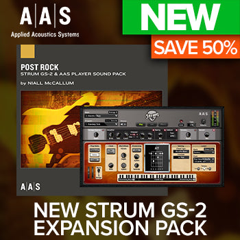 ENDS 25TH JAN - 50% off new AAS Post Rock Strum GS-2 Sound Pack