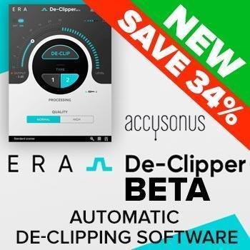 NEW RELEASE: Accusonus ERA De-Clipper BETA
