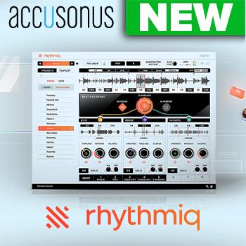 NEW RELEASE: Accusonus Rhythmiq instantly playable virtual instrument