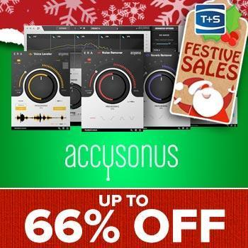 ENDS 1ST JANUARY - Save up to 66% off Accusonus audio repair software