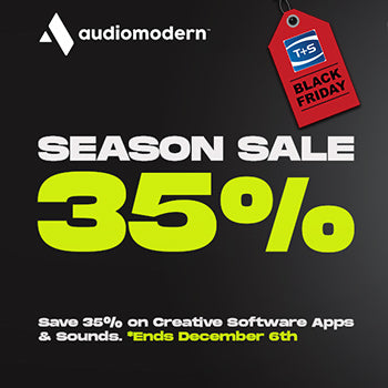 BLACK FRIDAY DEAL - 35% off Audiomodern plug-ins and samples