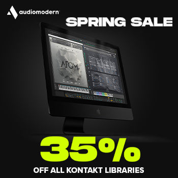 ENDS 2ND MAY - 35% off Audiomodern Kontakt Libraries