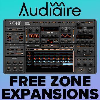 NEW TO TIME+SPACE: Audiaire Zone Virtual Synth with over 500 Presets