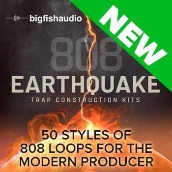 NEW RELEASE: Big Fish Audio 808 Earthquake