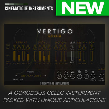 NEW RELEASE: Cinematique Instruments Vertigo Cello