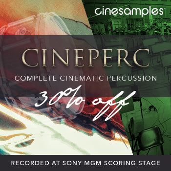 ENDS 25TH JAN - Save 30% off Cinesamples Cineperc