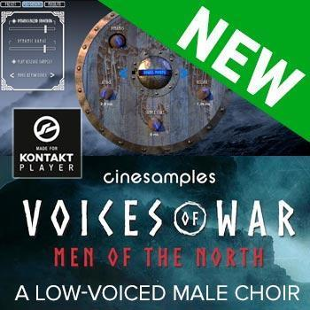 NEW RELEASE: Cinesamples release Voices of War - Men of The North