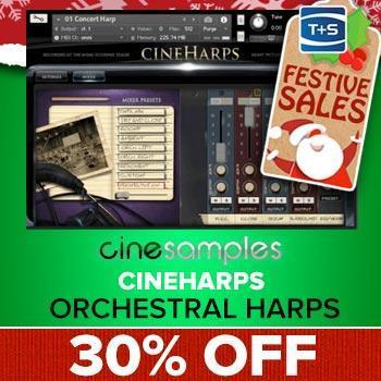 ENDS 18TH DECEMBER - Cinesamples Save 30% on Cineharps