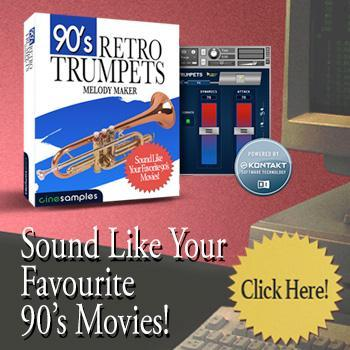 NEW RELEASE: CineSamples 90's Retro Trumpets – Time+Space