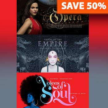 ENDS 20th AUGUST - Save 50% off EastWest's Voices Bundle + 25% off Instruments