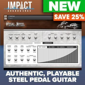 NEW RELEASE: Impact Soundworks Release Pedal Steel Virtual Guitar