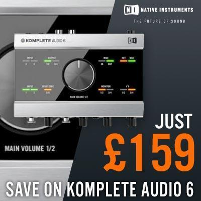 ENDS 6TH JANUARY - Native Instruments Komplete Audio 6... Just £159!!