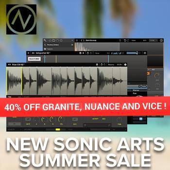 ENDS 19TH AUGUST - Save Over 40% on New Sonic Arts