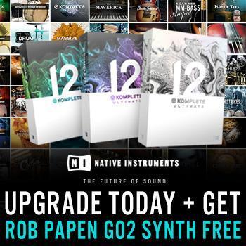 Free Rob Papen Go2 when you buy Native Instruments Komplete 12