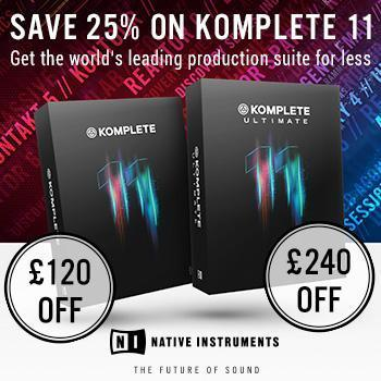 Ends 31st August - Save 25% on Native Instruments Komplete 11 and Komplete 11 Ultimate