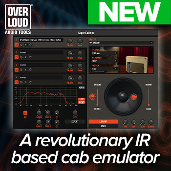 NEW RELEASE! Overloud SuperCabinet revolutionary IR Processor