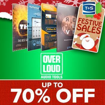 ENDS 2ND JANUARY - Save up to 70% on Overloud Audio Processing Plugins