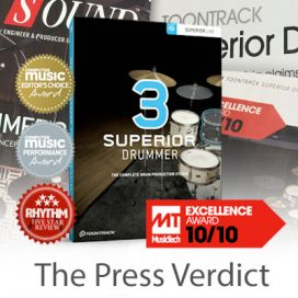 Toontrack Superior Drummer 3 – The Press Verdict