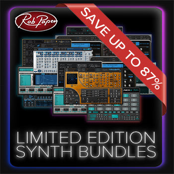ENDS 31ST AUGUST - Save up to 87% with new Rob Papen Limited Edition Synth Bundles