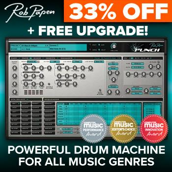 COMING SOON - Rob Papen's Punch 2, Buy Punch now save 33% + upgrade for FREE!