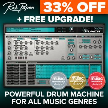 ENDS 30TH SEPTEMBER - 33% off Rob Papen's Punch Virtual