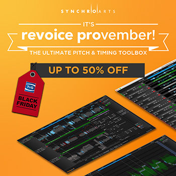 BLACK FRIDAY DEAL - Up to 50% off SynchroArts Revoice Pro 4