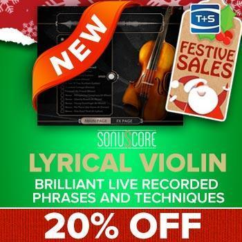 ENDS 17TH DECEMBER - Save 20% on Sonuscore Lyrical Violin Library for Kontakt