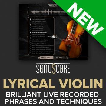 NEW RELEASE: Sonuscore Lyrical Violin Phrases