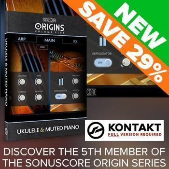 NEW RELEASE: Sonuscore Origins Vol 5 Ukulele & Muted Piano