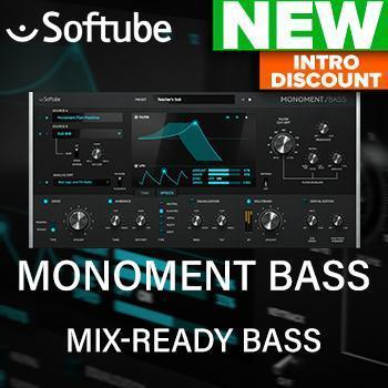 NEW RELEASE: Softube release their brand new synth Monument Bass
