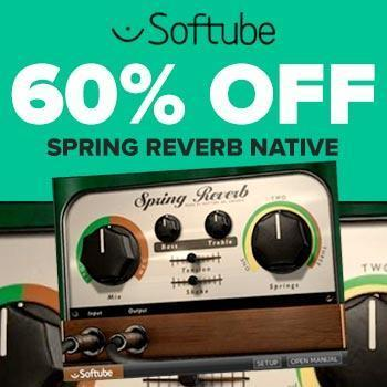 ENDS 31st DECEMBER - Save a massive 60% on Softube Spring Reverb (Native)