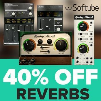 Ends 30th September - 40% off Softube Spring Reverb and TSAR 1 R