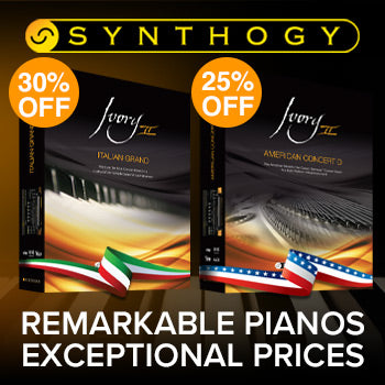 ENDS 16TH JULY - Up to 30% off outstanding Synthogy pianos