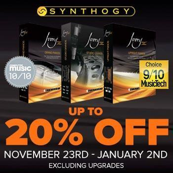 ENDS JANUARY 2ND - Save up to 20% off all Synthogy Ivory II Virtual Pianos
