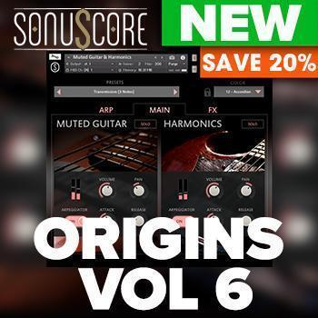 NEW RELEASE: Sonuscore release Origins Vol 6 Muted Guitar & Harmonics