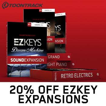 ENDS 31ST DEC - 20% off Toontrack EZkeys Sound Expansions