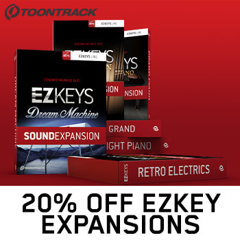 ENDS 31ST AUGUST - 20% off Toontrack EZkeys Sound Expansions